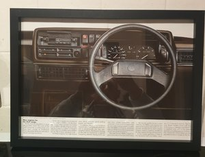 Original VW Golf MK2 Framed Advert