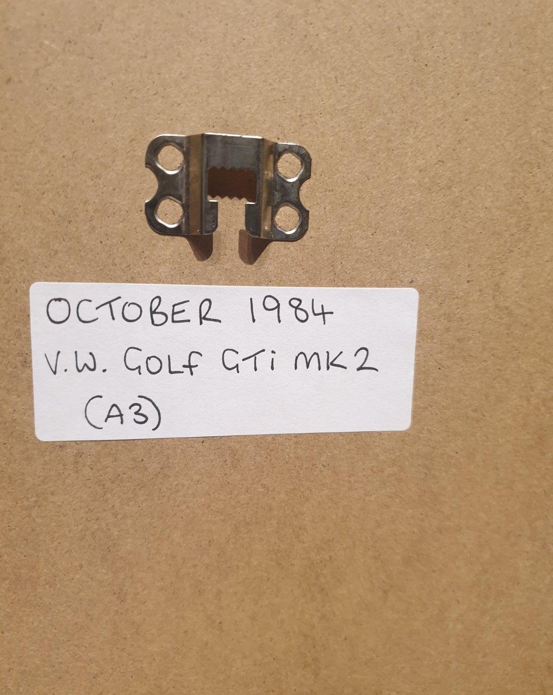 1984 VW Golf GTI Framed Advert Original  SOLD (picture 2 of 2)