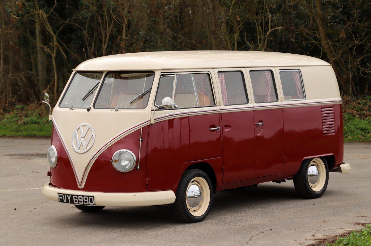 1966 VW Split Screen Camper Van. Factory German Built. RHD. For Sale (picture 1 of 6)