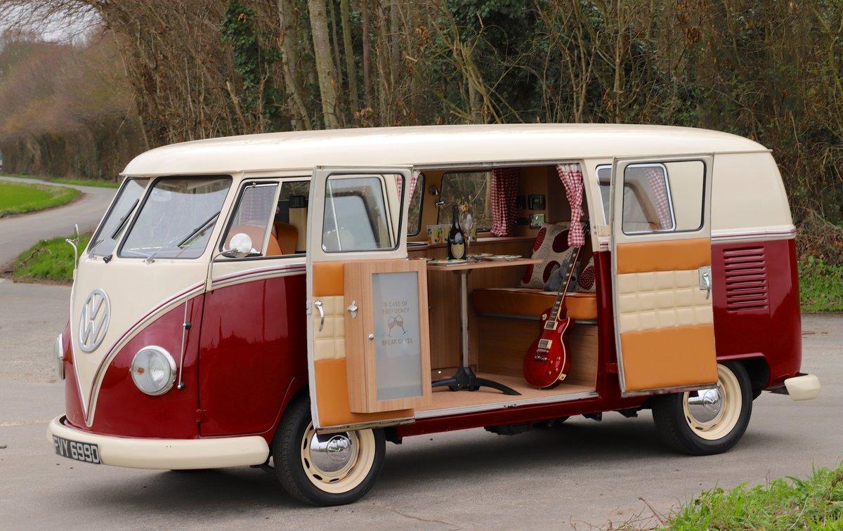 1966 VW Split Screen Camper Van. Factory German Built. RHD. For Sale (picture 3 of 6)