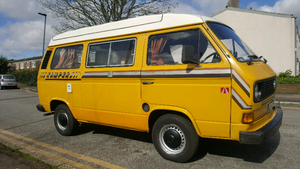 "Classic air cooled volkswagen ""kamper"" campervan"