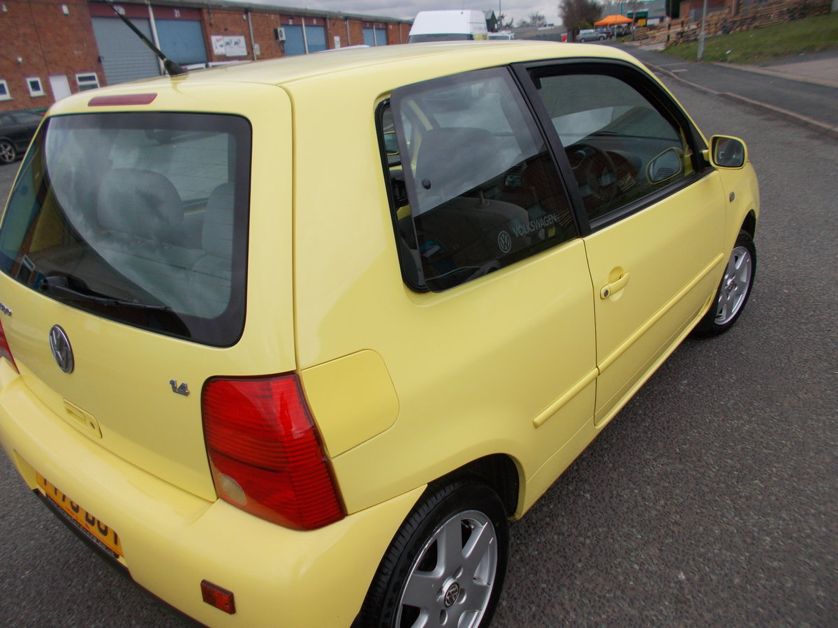 1999 VOLKSWAGEN LUPO 1.4 S YELLOW LOW MILES  For Sale (picture 3 of 6)