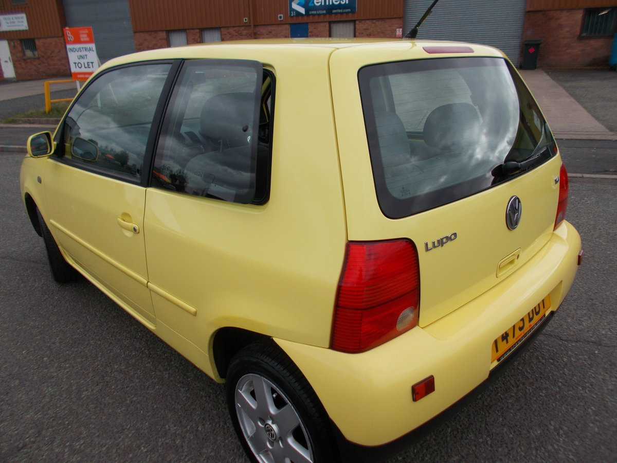 1999 VOLKSWAGEN LUPO 1.4 S YELLOW LOW MILES  For Sale (picture 4 of 6)