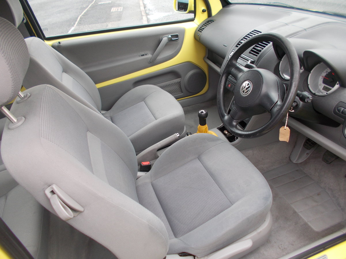 1999 VOLKSWAGEN LUPO 1.4 S YELLOW LOW MILES  For Sale (picture 5 of 6)