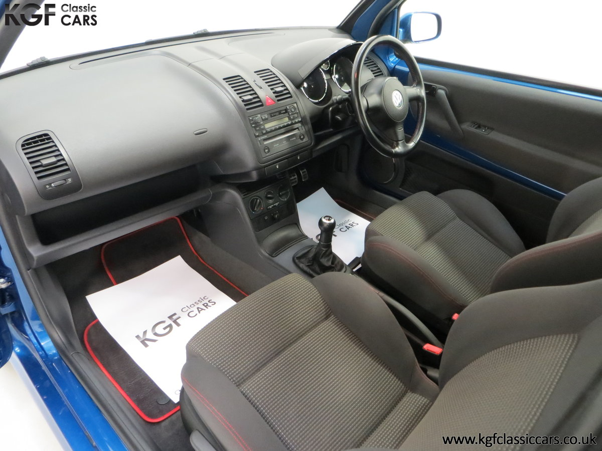 2003 UK Raven Blue Volkswagen Lupo GTi, 17 Stamps & 44,460 Miles SOLD (picture 20 of 24)