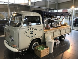 Early VW Bay Pick Up Commercial Coffee Van