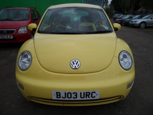 2003 YELLOW  BUG 1600cc PETROL 5 SPEED SMART OLD BEETLE MOTED 21 For Sale