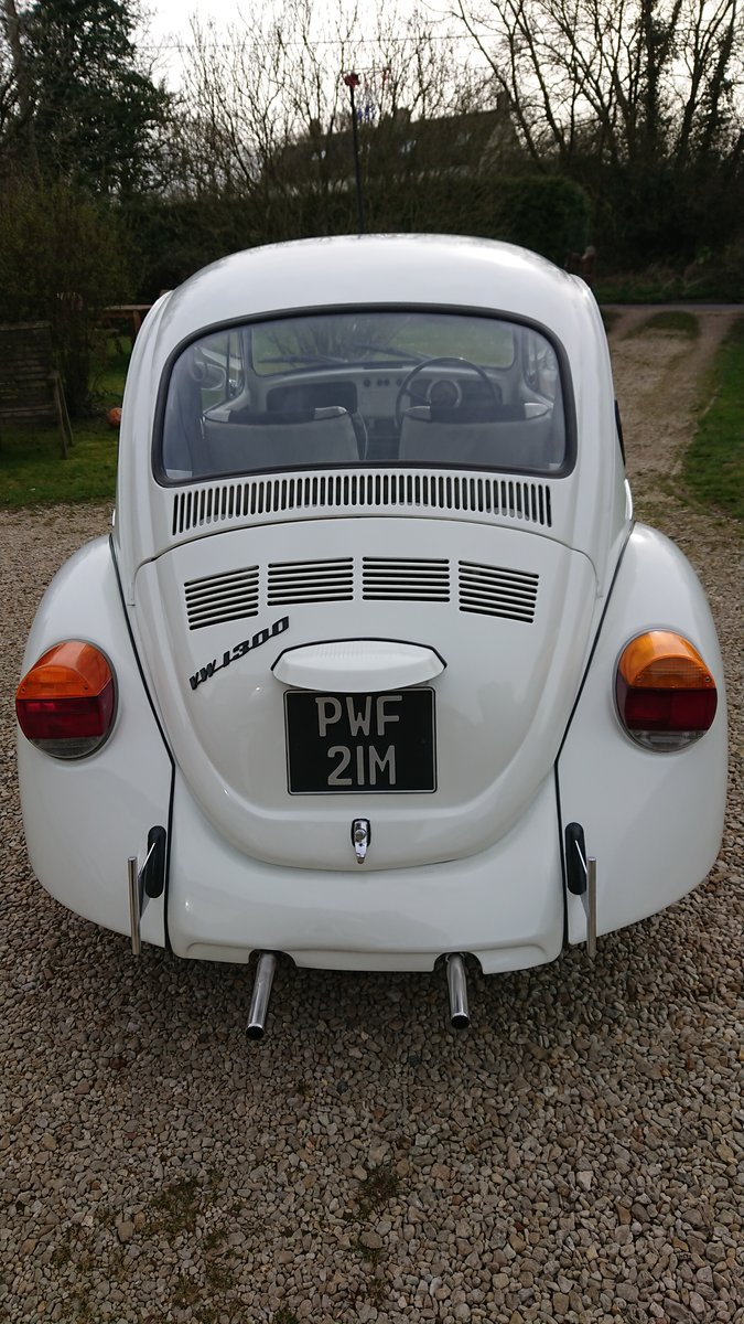 1974 VW Beetle 1300 in Beautiful white For Sale (picture 3 of 4)
