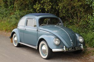 1956 VW Beetle Oval. Ragtop. Right Hand Drive.
