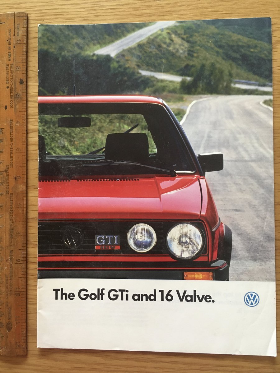 1987 Volkswagen Golf GTI and 16 valve brochure For Sale (picture 1 of 1)