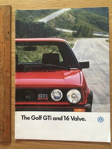 1987 Volkswagen Golf GTI and 16 valve brochure