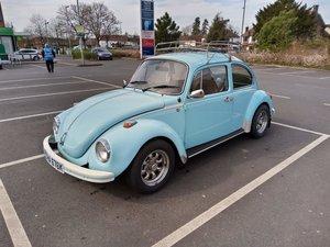 Classic Volkswagen VW Beetle 1600cc baby blue