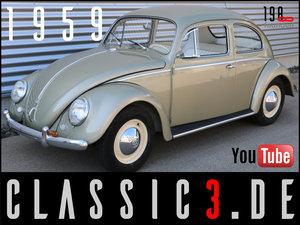 1959 VW VOLKSWAGEN BEETLE TYP 11 FRAME OFF RESTAURATION MINT