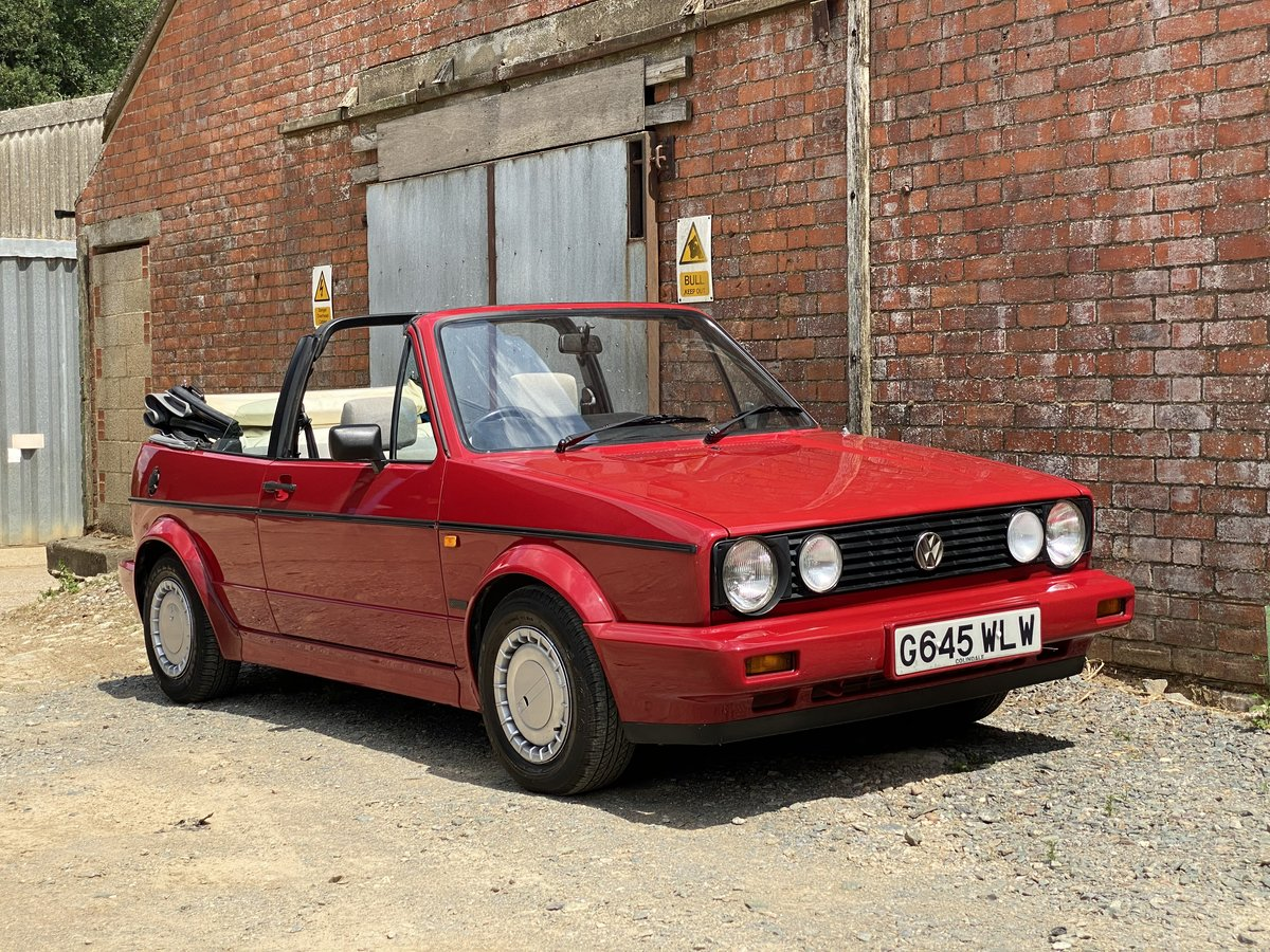 1989 VW Golf Clipper Cabriolet 1Lady Owner 50900 Miles For Sale (picture 1 of 6)