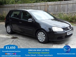 2004 Volkswagen Golf 1.9TDI S - 5 Door Hatchback - Diesel