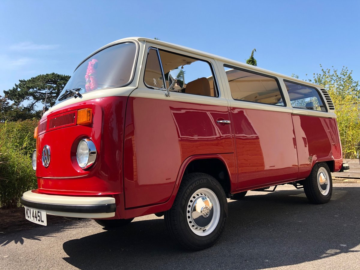 1973 VW T2 CAMPER LHD Factory Sunroof 16900 miles For Sale (picture 1 of 6)