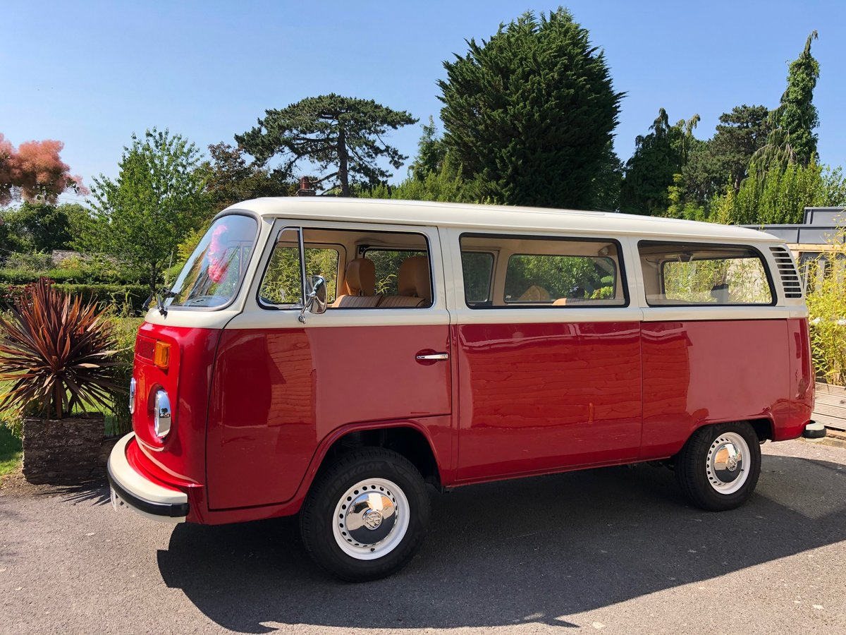 1973 VW T2 CAMPER LHD Factory Sunroof 16900 miles For Sale (picture 2 of 6)