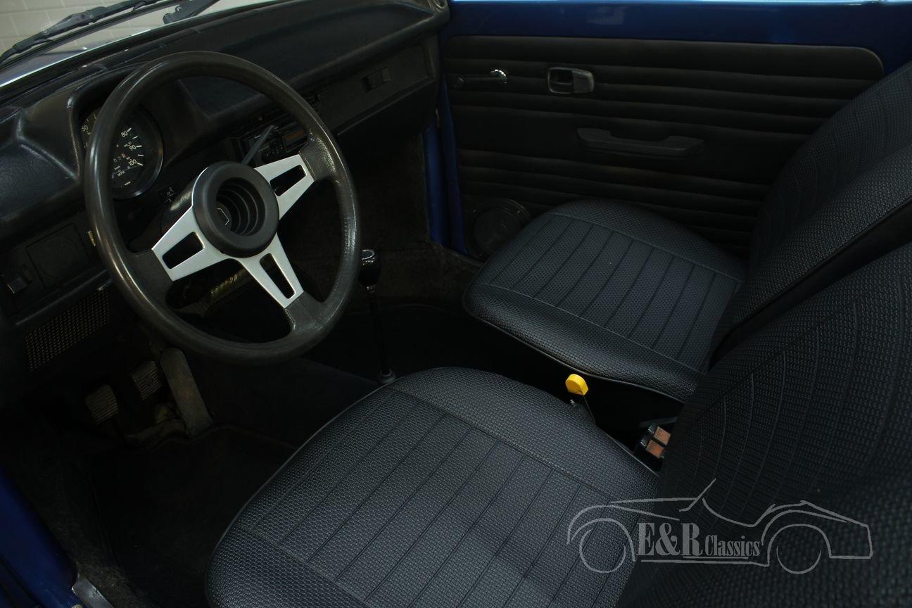 Volkswagen Beetle Convertible 1978 Ancona Blue Metallic For Sale (picture 3 of 6)