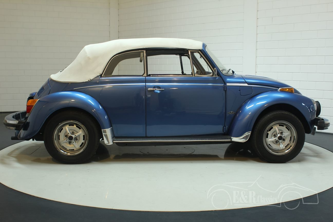 Volkswagen Beetle Convertible 1978 Ancona Blue Metallic For Sale (picture 5 of 6)
