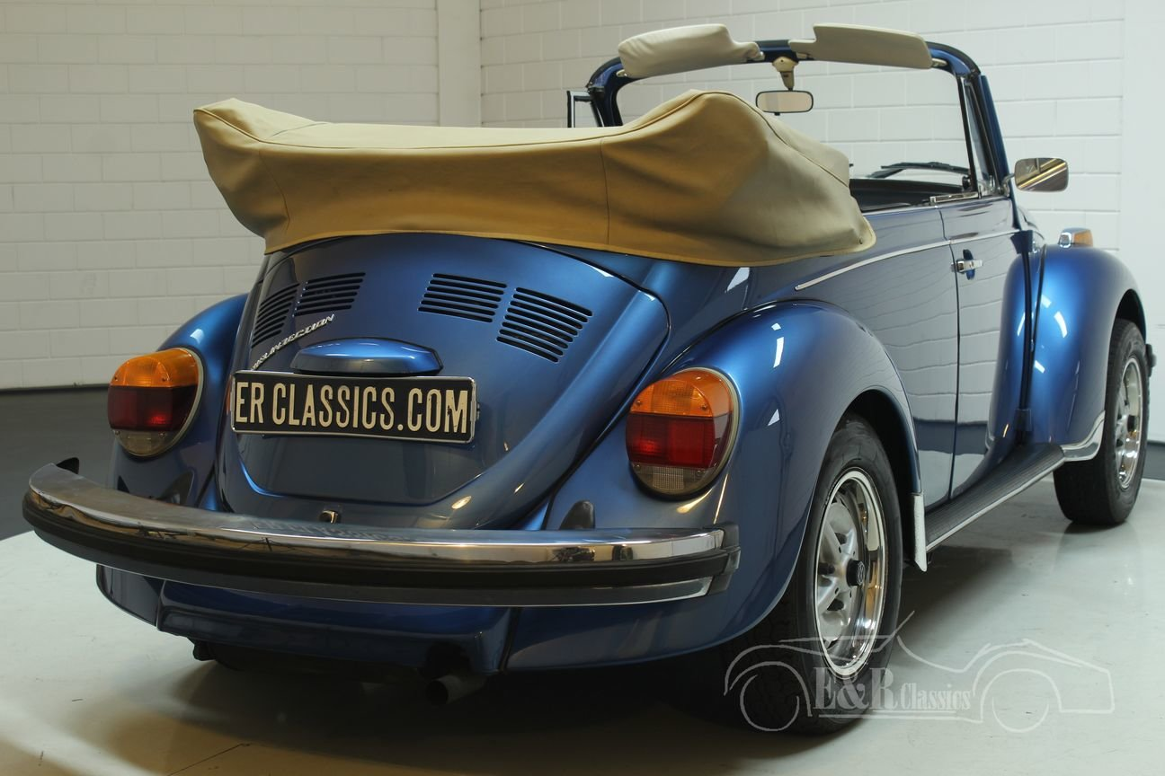 Volkswagen Beetle Convertible 1978 Ancona Blue Metallic For Sale (picture 6 of 6)
