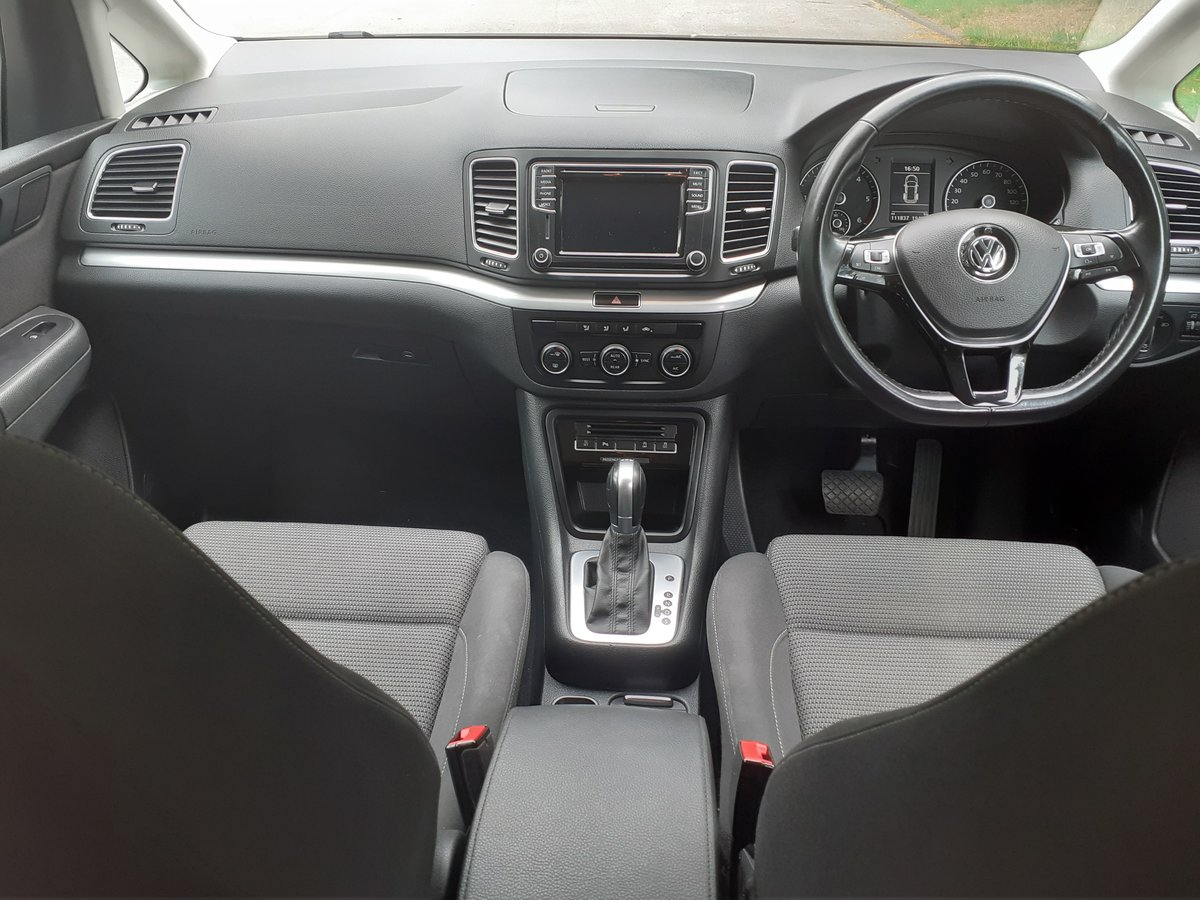 2016/16 VW Sharan SE Bluemotion Tech TDI DSG 1 Owner FSH  For Sale (picture 4 of 6)