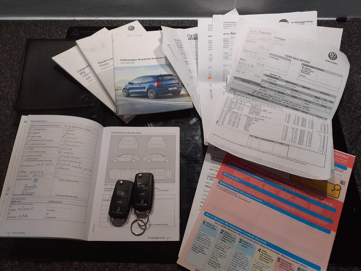 2016/16 VW Sharan SE Bluemotion Tech TDI DSG 1 Owner FSH  For Sale (picture 6 of 6)