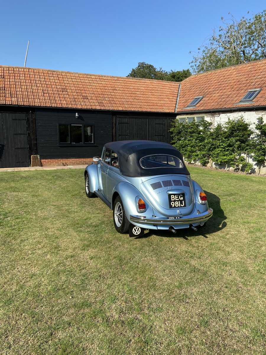 1970 VW Beetle Convertible Silver Blue Metallic For Sale (picture 1 of 6)