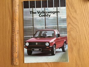 1985 Volkswagen Caddy pickup brochure  For Sale