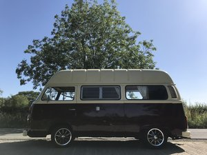 VW Bay window campervan, hi top RHD
