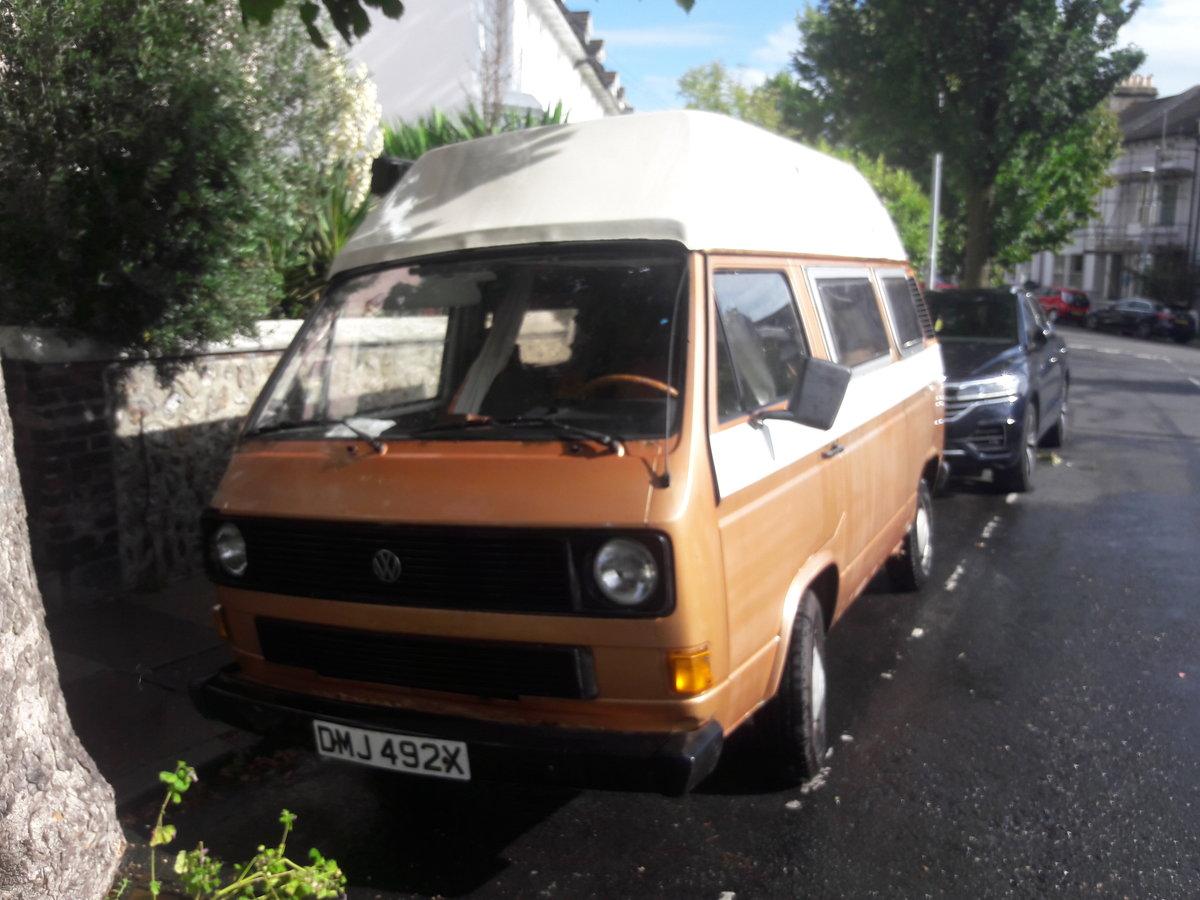 1981 VW T25 campervan - Brunhilde. For Sale (picture 1 of 6)