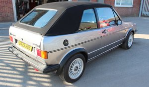 1987 Golf GT1 Cabriolet for sale by Auction 19 September For Sale by Auction
