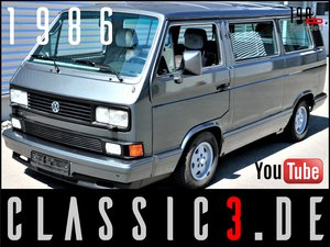 "1986 VOLKSWAGEN T3 CARAVELLE ""CARAT"" AUTOMATIC WBX 112 HP  For Sale"
