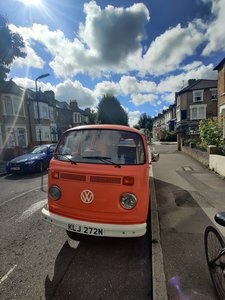 1975 T2 Orange VW camper, low mileage
