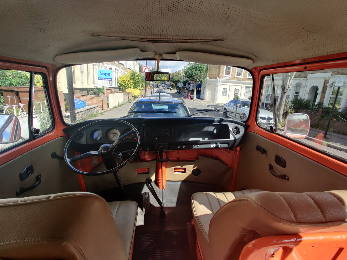 1975 T2 Orange VW camper, low mileage For Sale (picture 4 of 6)
