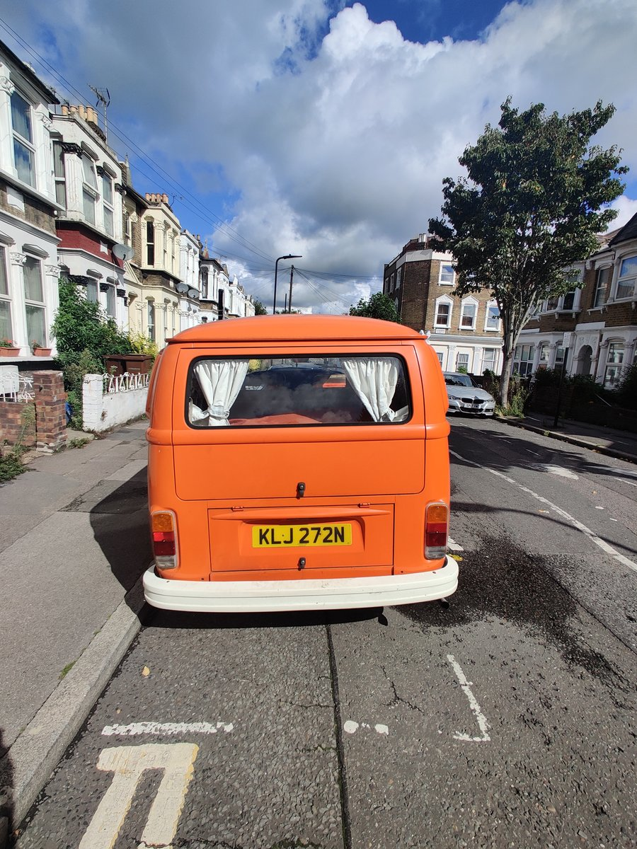 1975 T2 Orange VW camper, low mileage For Sale (picture 6 of 6)