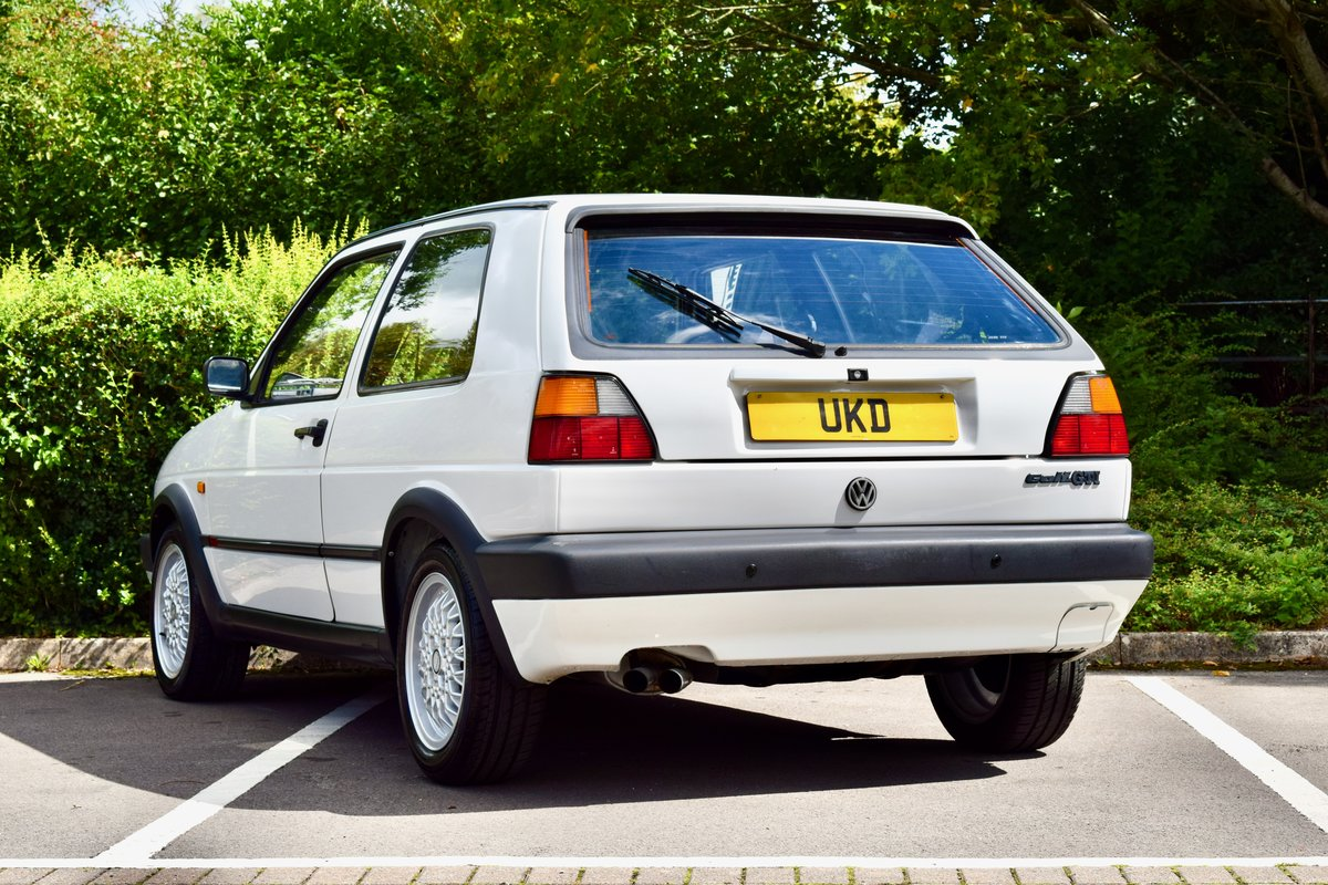 VW GOLF MK2 GTI 8V WHITE 3DR 1991 LOW MILEAGE For Sale (picture 6 of 8)