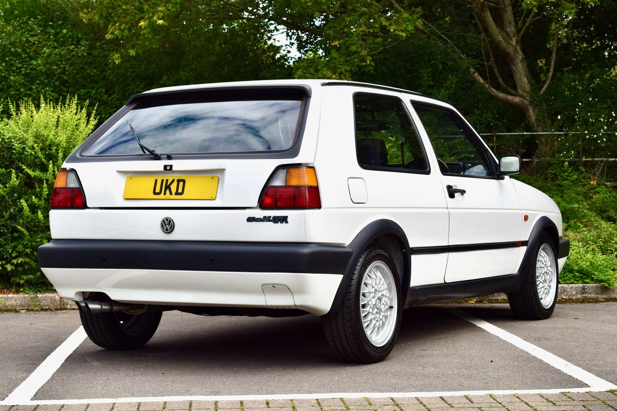 VW GOLF MK2 GTI 8V WHITE 3DR 1991 LOW MILEAGE For Sale (picture 8 of 8)