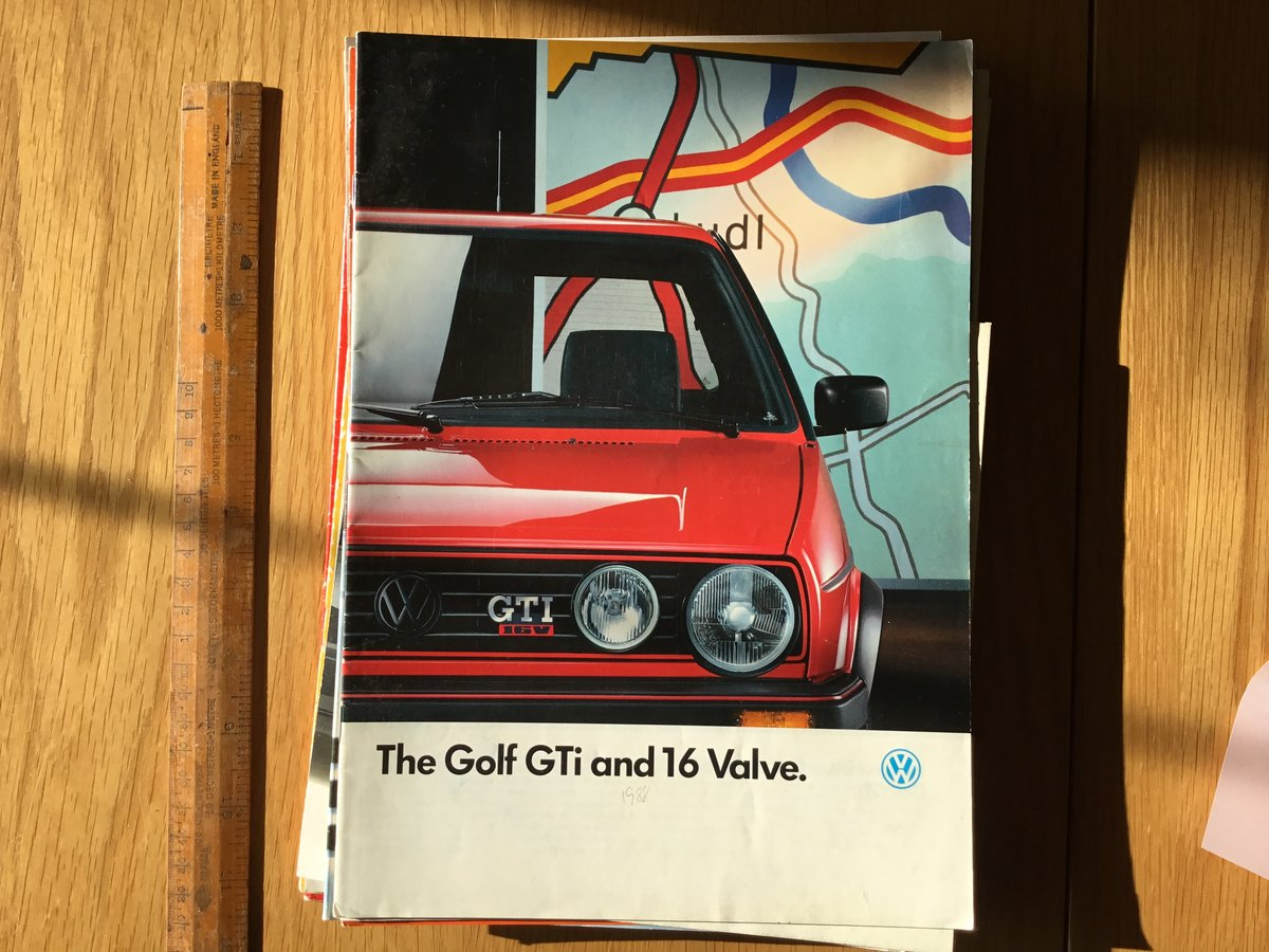 1988 Volkswagen Golf GTI and 16 valve brochure  For Sale (picture 1 of 1)