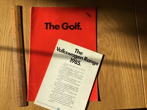 The Golf brochure 1985 For Sale