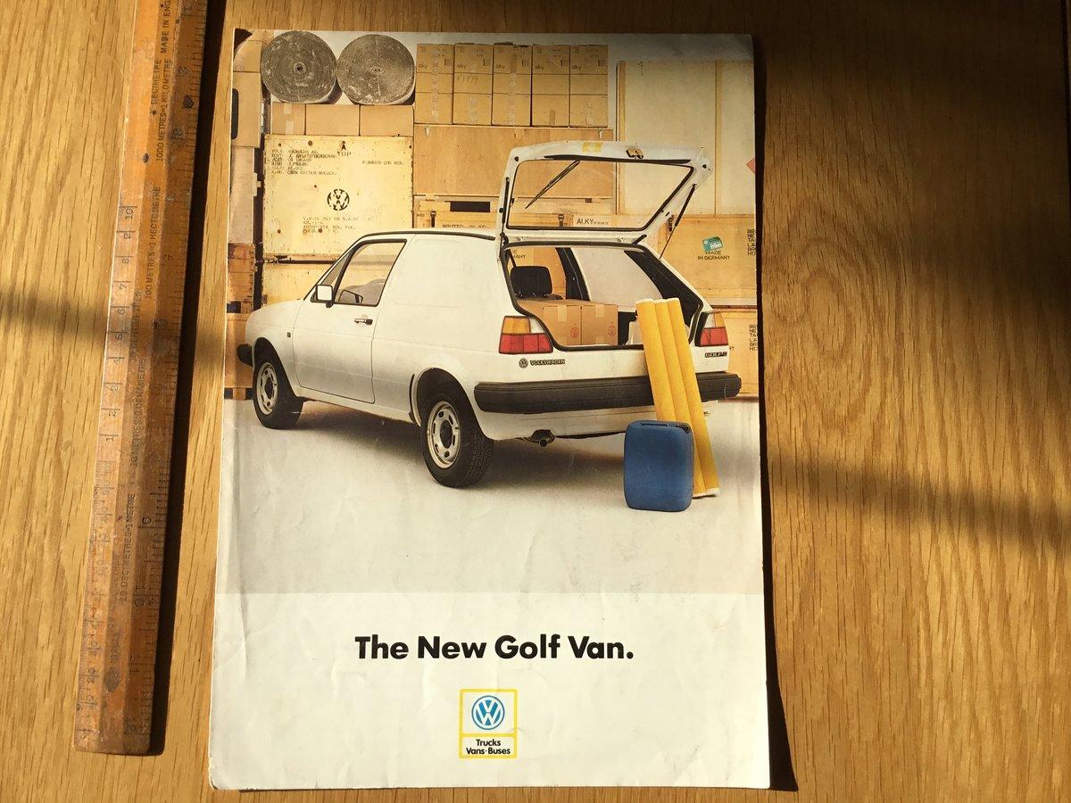 1985 Golf van brochure For Sale (picture 1 of 1)