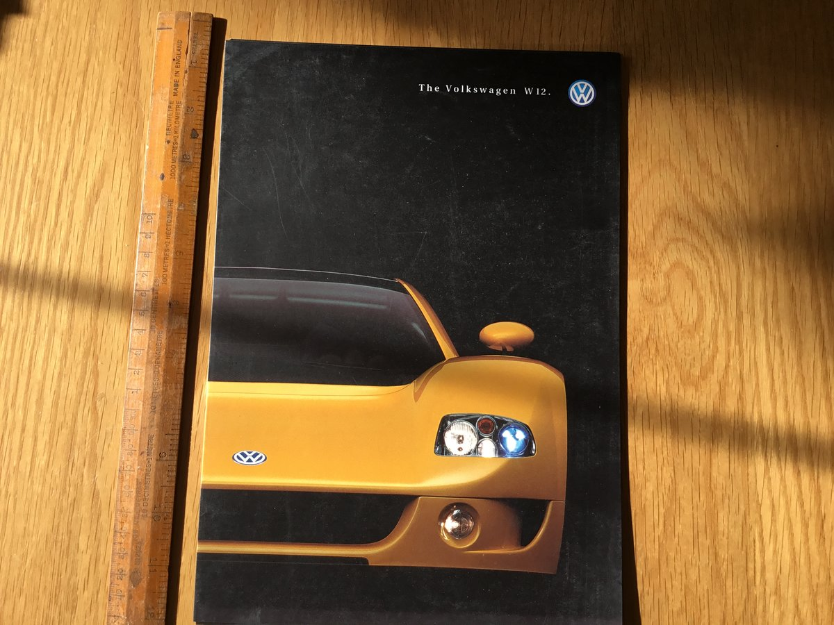 1998 Volkswagen W12 brochure For Sale (picture 1 of 1)