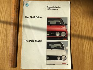 1989 Golf driver and Polo Match brochure For Sale