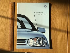2000 Golf convertible brochure  For Sale