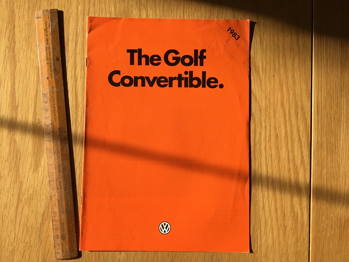 Golf Convertible brochure 1983 For Sale (picture 1 of 1)