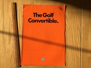 Golf Convertible brochure 1983 For Sale