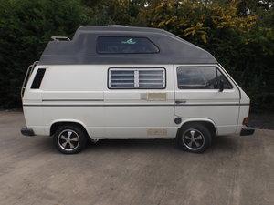 VW high-top transporter campervan