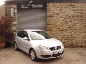 2009 59 VOLKSWAGEN POLO 1.4 MATCH 3DR. 50461 MILES. 1 OWNER.