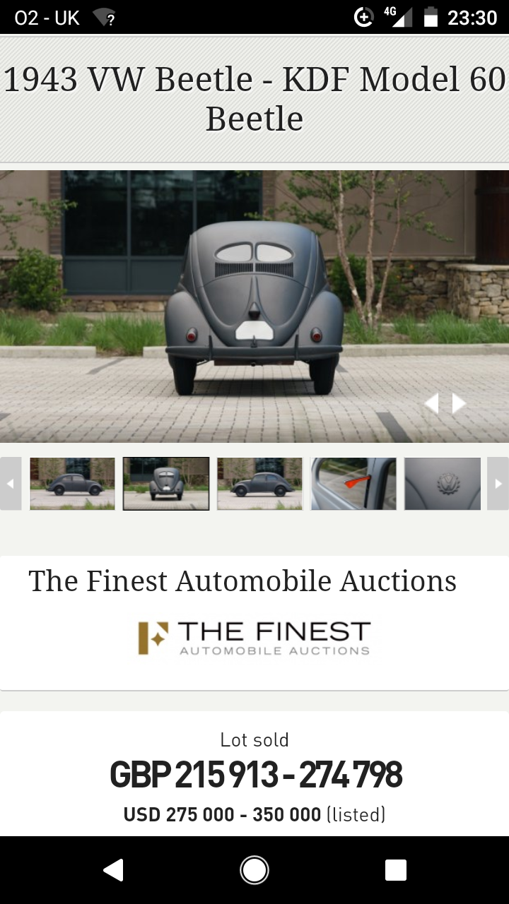 1937 KdF Beetle Tatra P/X For Sale (picture 4 of 6)