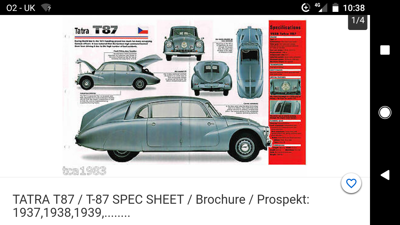 1937 KdF Beetle Tatra P/X For Sale (picture 5 of 6)