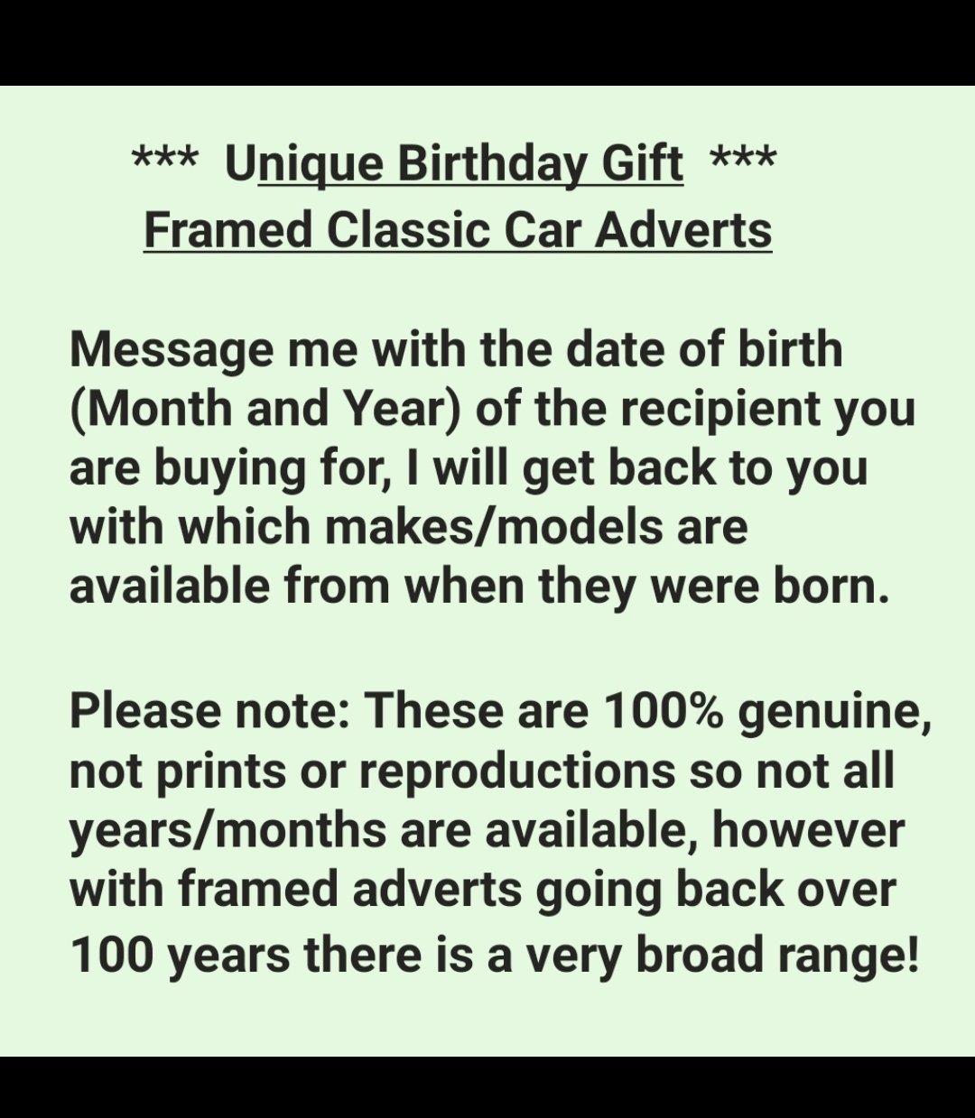1968 Original VW Beetle Framed Advert For Sale (picture 3 of 3)